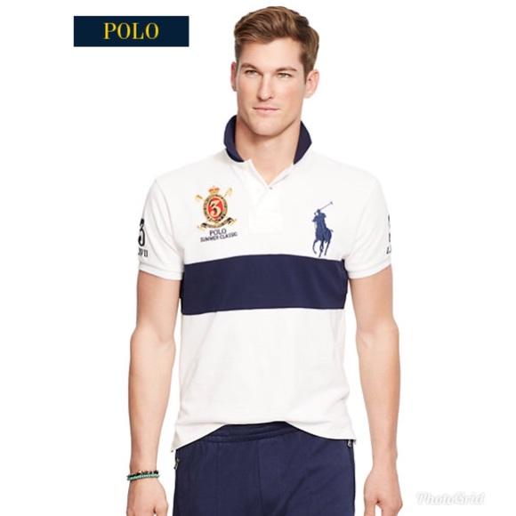 Polo Ralph Lauren Summer Classic Blue/White Sz M